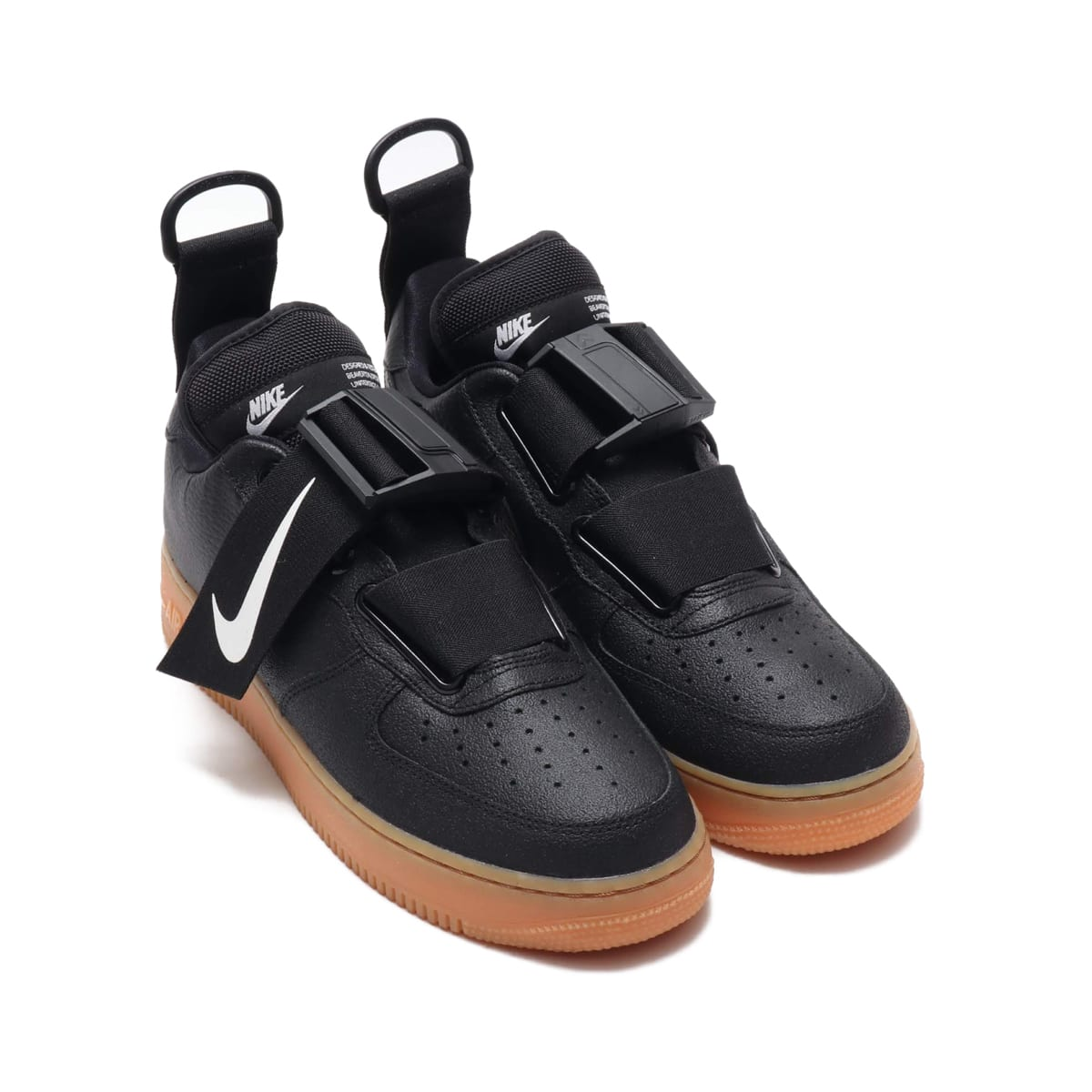 NIKE AIR FORCE 1 UTILITY  BLACK/WHITE-GUM MED BROWN 18HO-I_photo_large