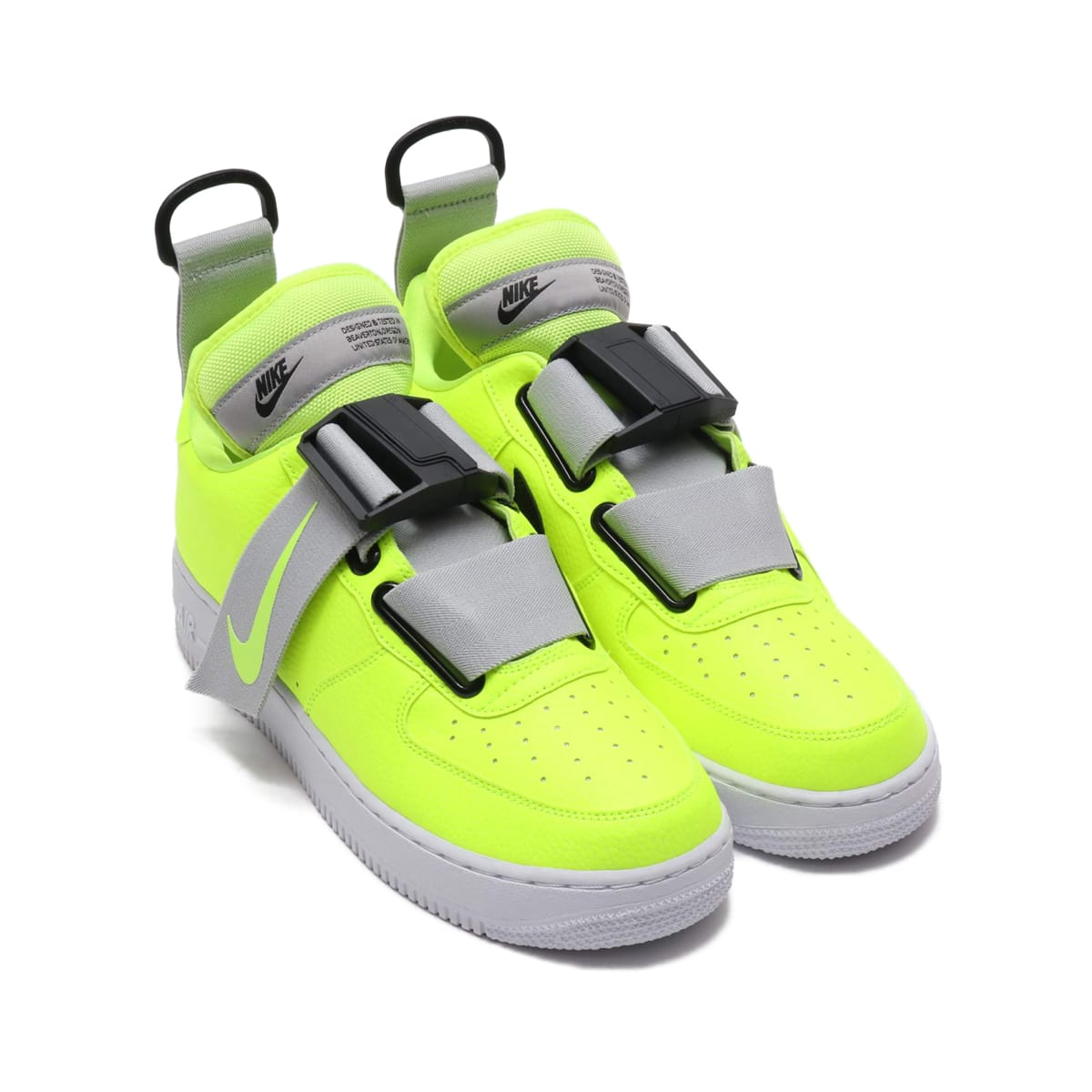 NIKE AIR FORCE 1 UTILITY  VOLT/WHITE-BLACK 18HO-I_photo_large