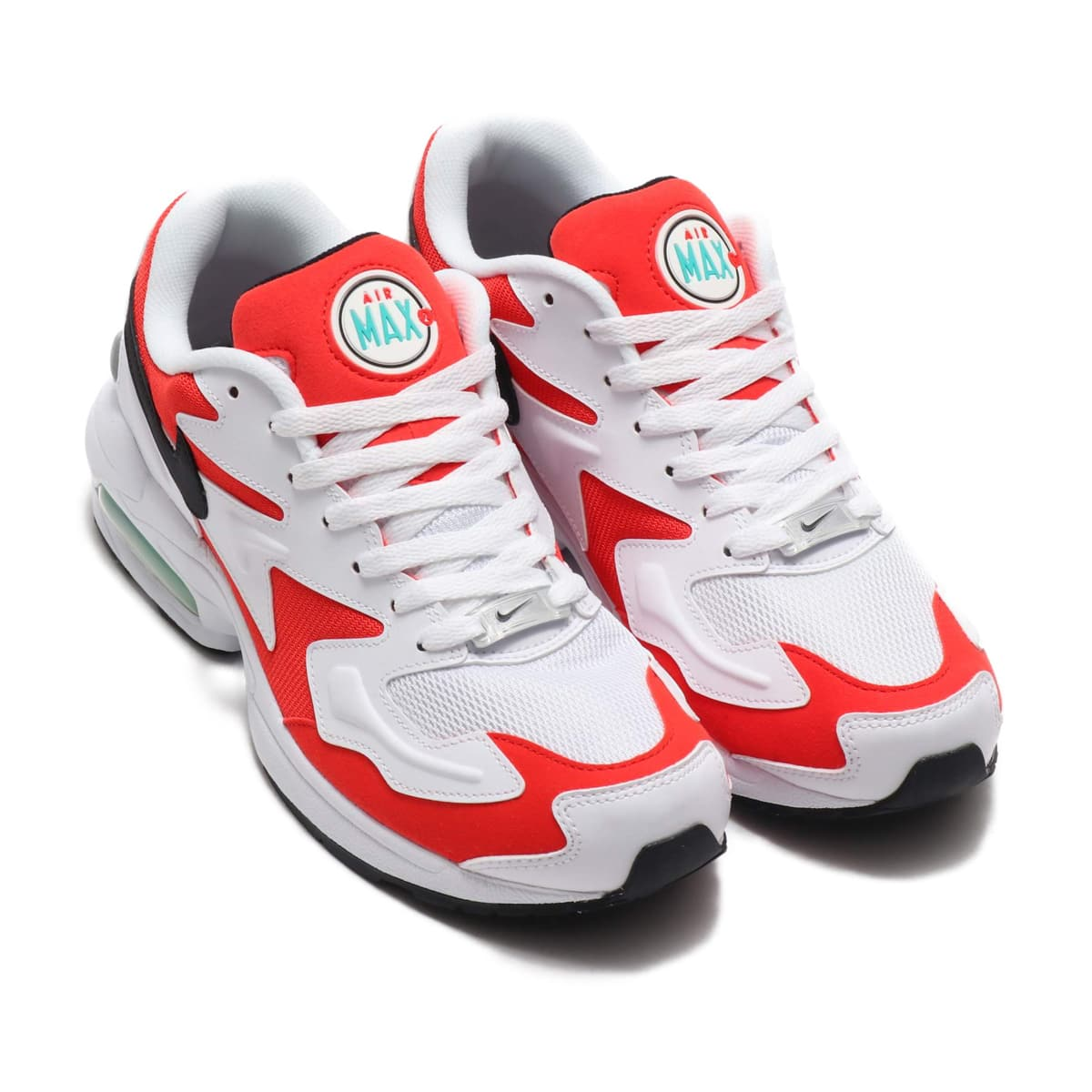 NIKE AIR MAX2 LIGHT WHITE/BLACK-HBNR RED-CL GRY 19SU-S_photo_large