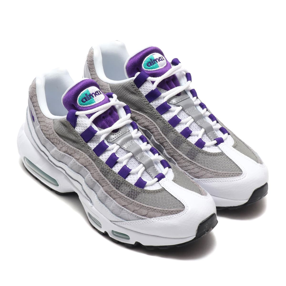 NIKE AIR MAX 95 LV8 WHITE/COURT PURPLE-EMERALD GREEN 19FA-S_photo_large