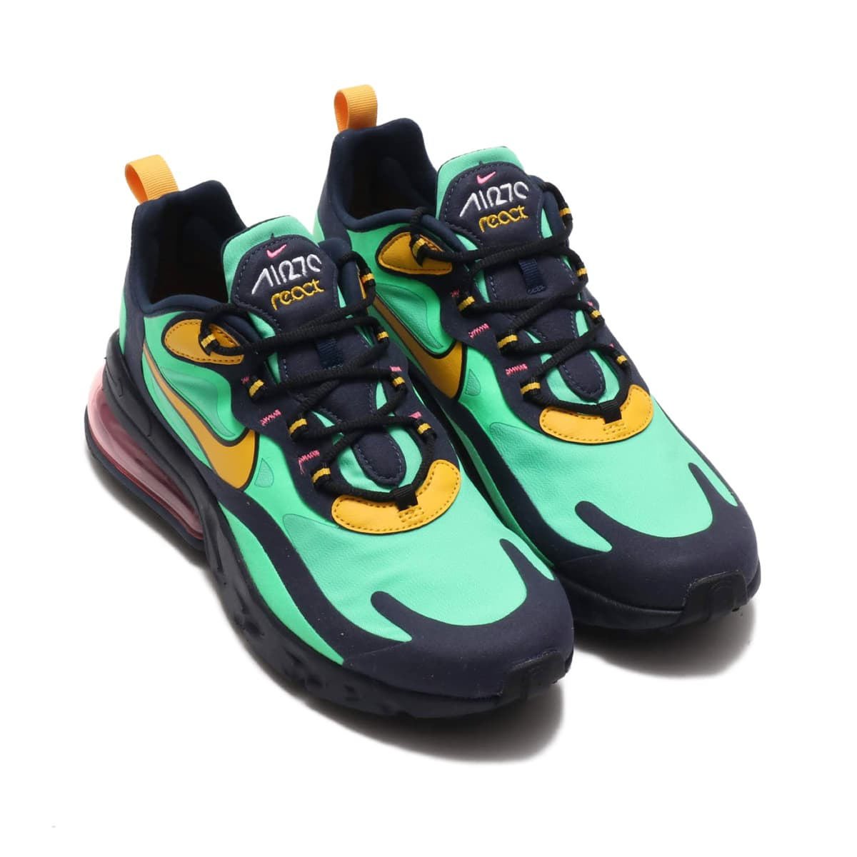 NIKE AIR MAX 270 REACT ELECTRO GREEN/YELLOW OCHRE-OBSIDIAN 19FA-S_photo_large
