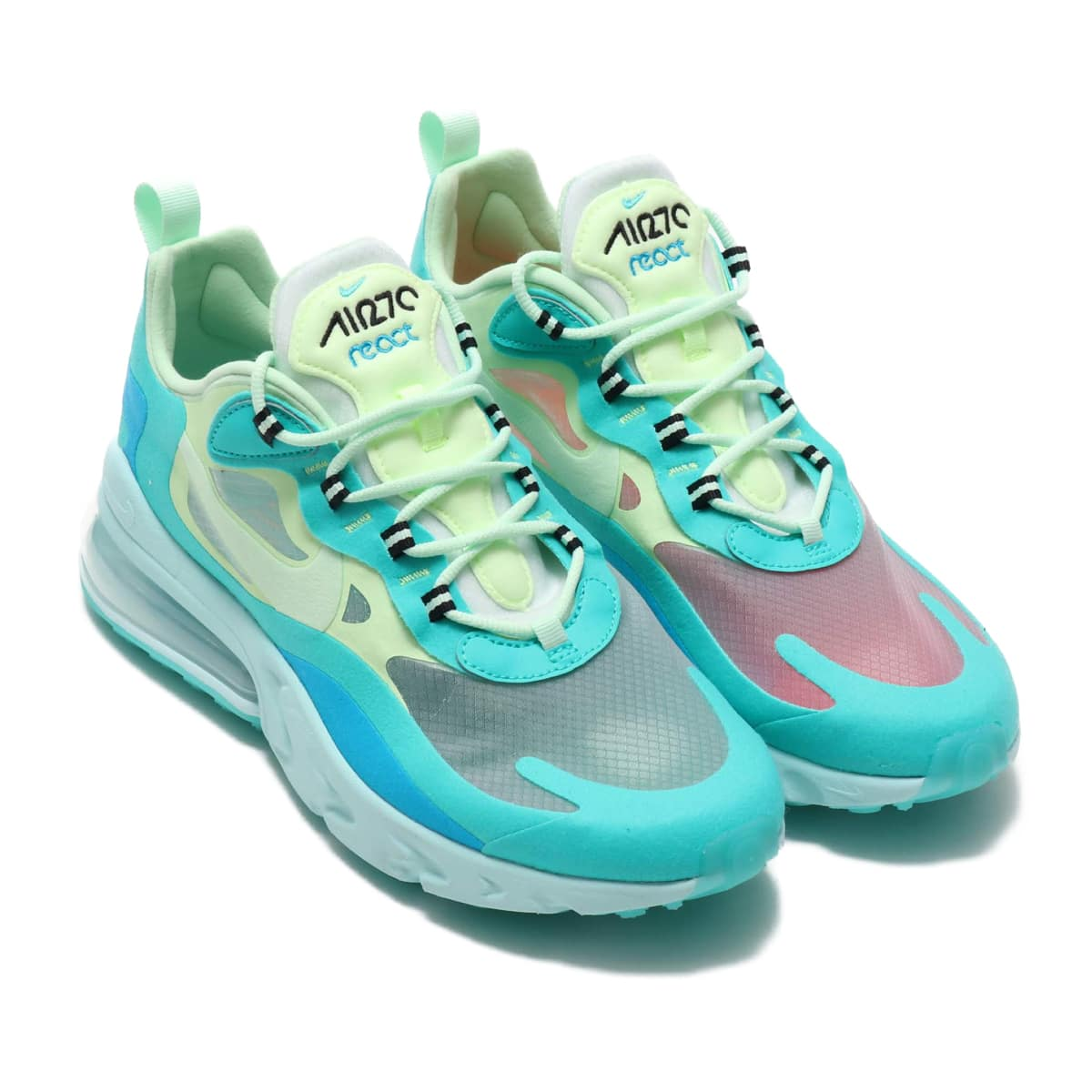 NIKE AIR MAX 270 REACT HYPER JADE/FROSTED SPRUCE-BARELY VOLT 19FA-S_photo_large