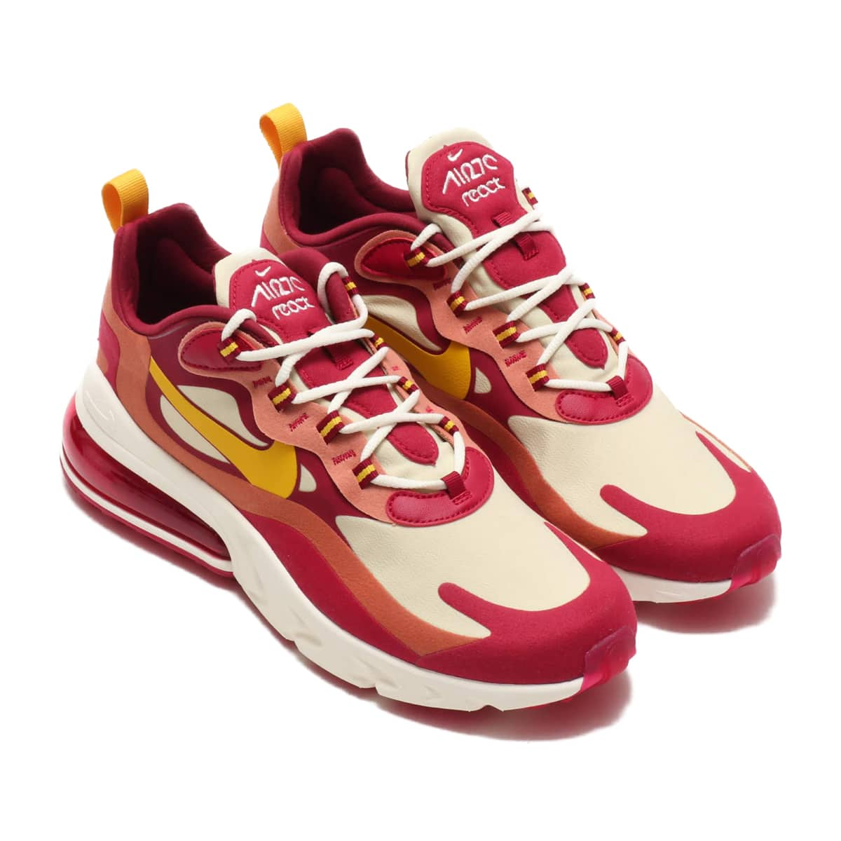 NIKE AIR MAX 270 REACT NOBLE RED/DARK SULFUR-TEAM GOLD 19HO-I_photo_large