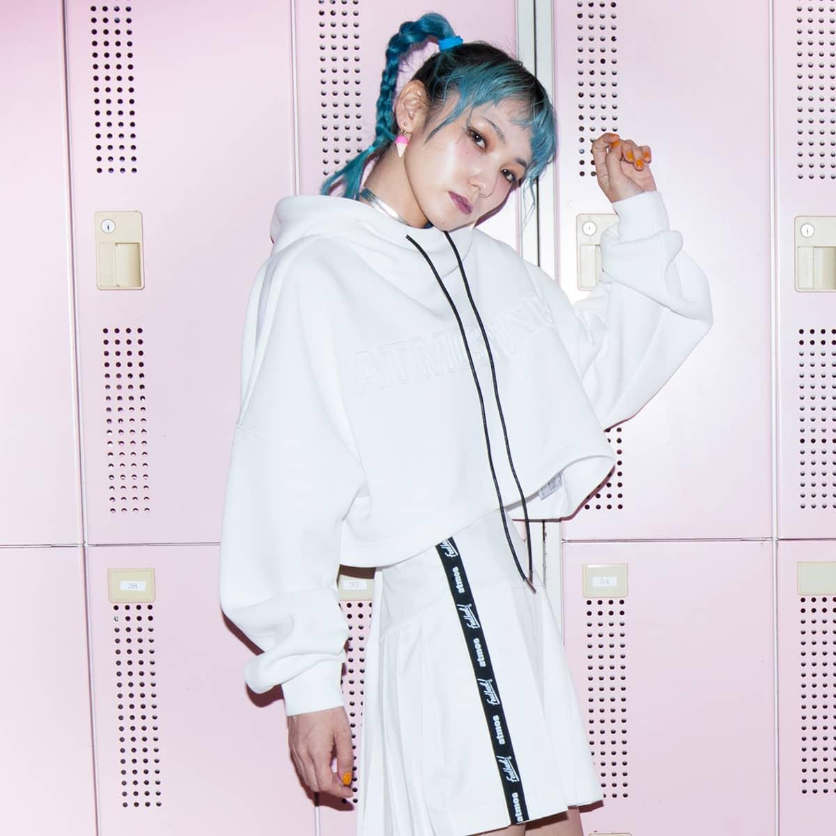 Feedback! × atmos pink プリーツスカート WHITE 19FW-S_photo_large