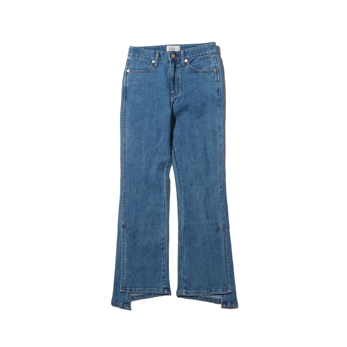 Andersson Bell UNBALANCE SLIT CROP JEANS BLUE 19FA-I_photo_large