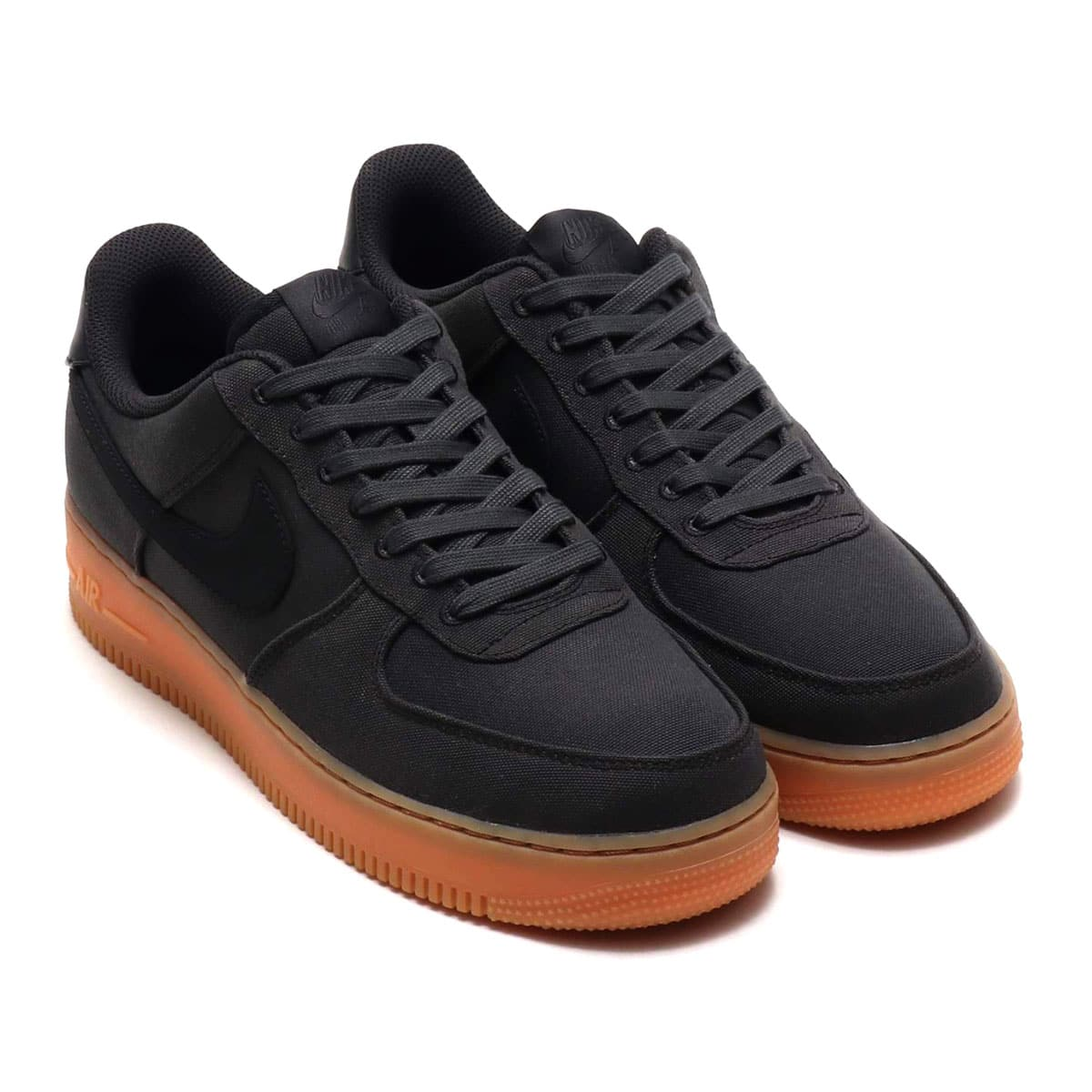 NIKE AIR FORCE 1 '07 LV8 STYLE  BLACK/BLACK-GUM MED BROWN 18HO-I_photo_large