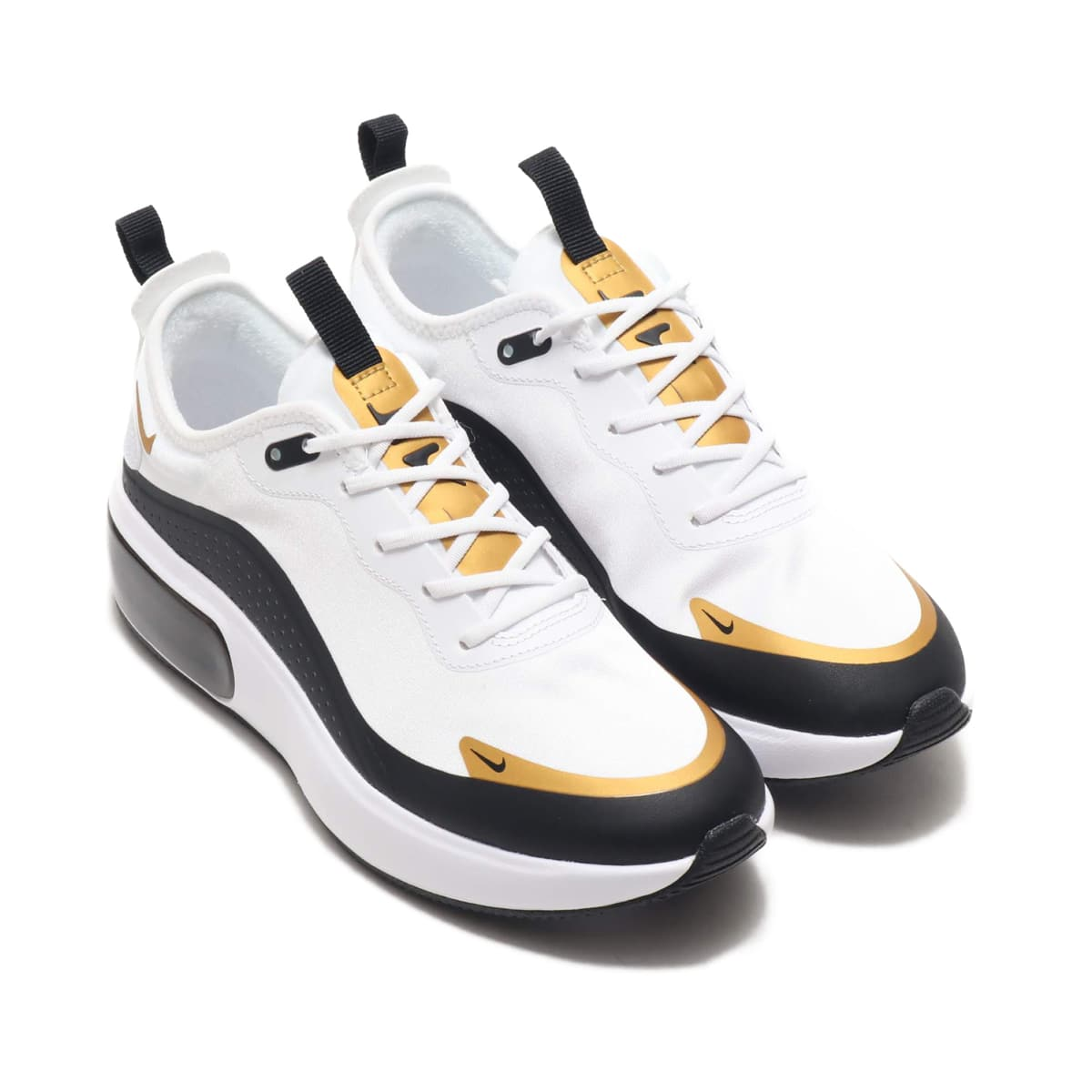 NIKE W AIR MAX DIA WHITE/BLACK-METALLIC GOLD-PURE PLATINUM 19HO-I_photo_large
