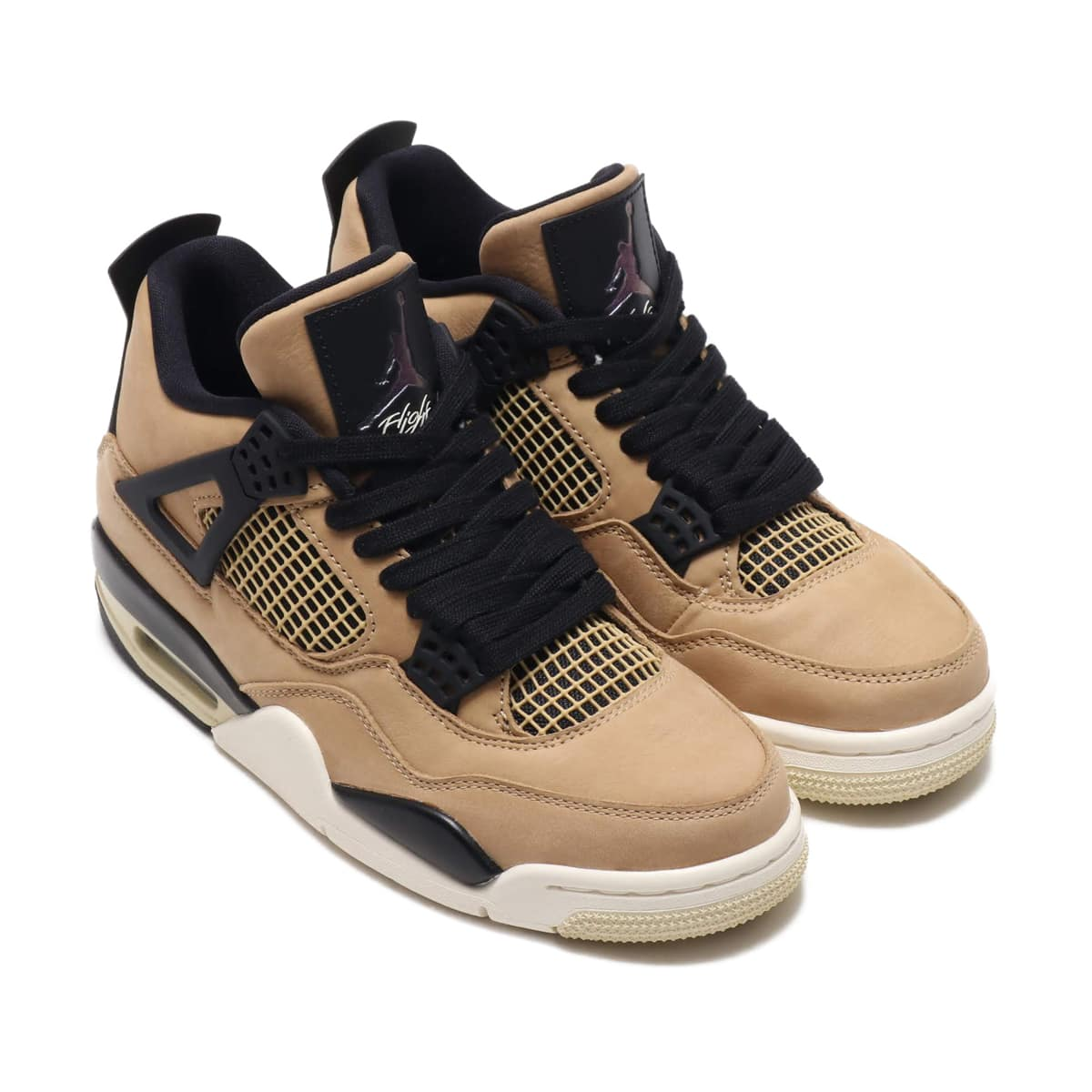 NIKE WMNS AIR JORDAN 4 RETRO MUSHROOM/MULTI-COLOR-BLACK-FOSSIL 19FA-S_photo_large
