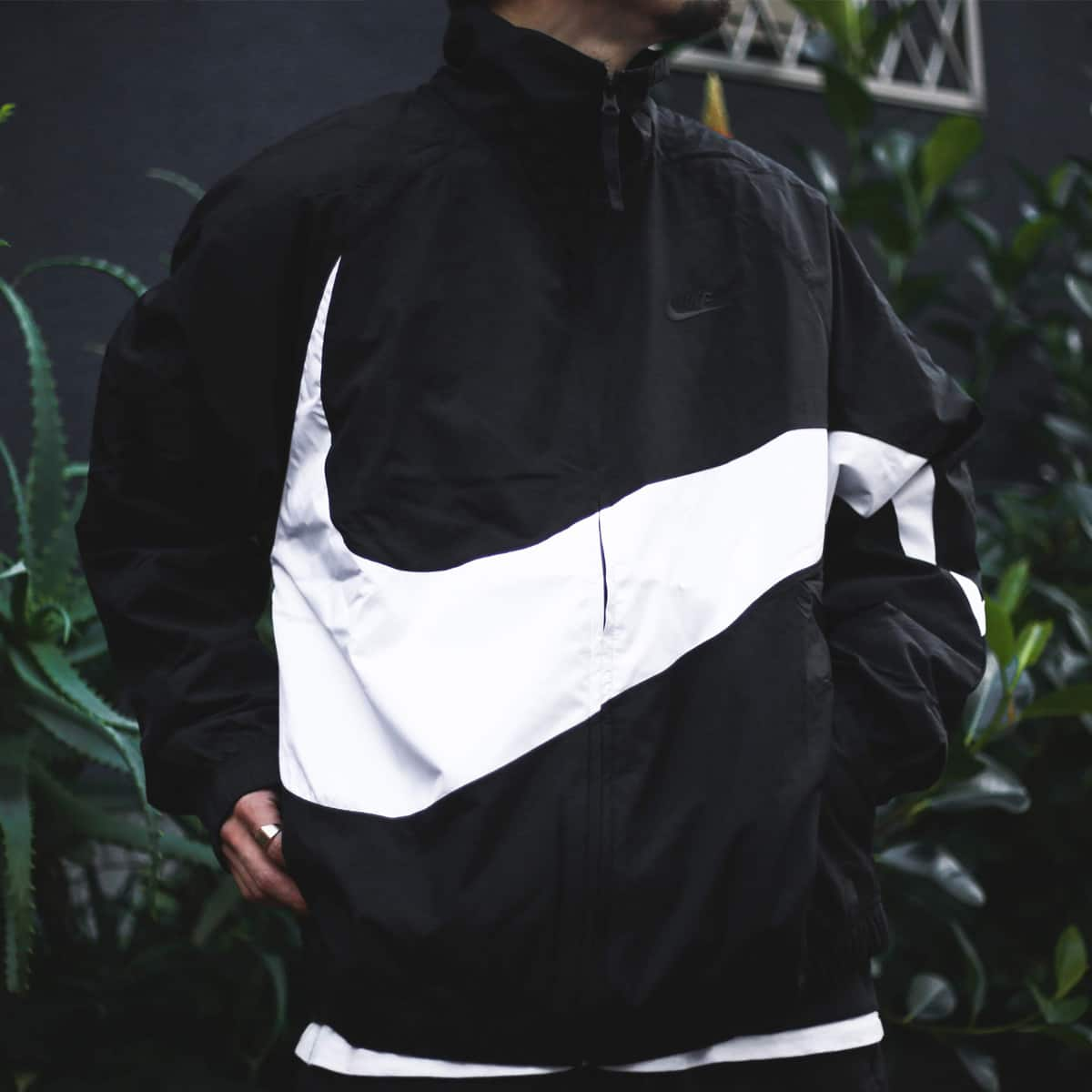 NIKE AS M NSW HBR JKT WVN STMT BLACK/WHITE/BLACK/BLACK 19SP-I_photo_large