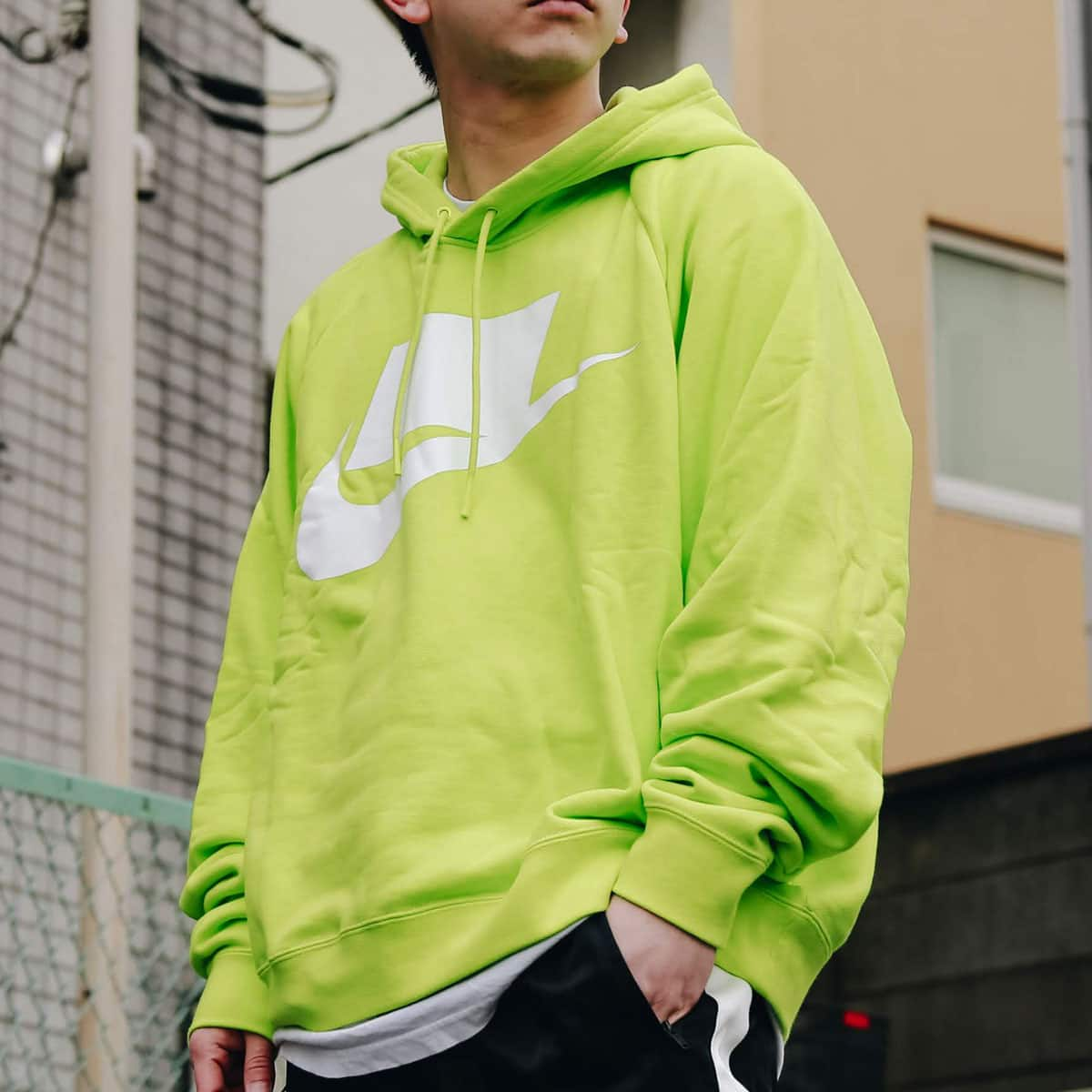 NIKE AS M NSW NSP HOODIE FT CYBER/WHITE 19SP-I_photo_large