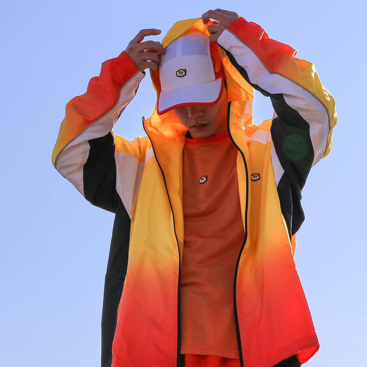 NIKE M NRG TN TRACK JKT HD  TOUR YELLOW/TEAM ORANGE/BLACK_photo_large