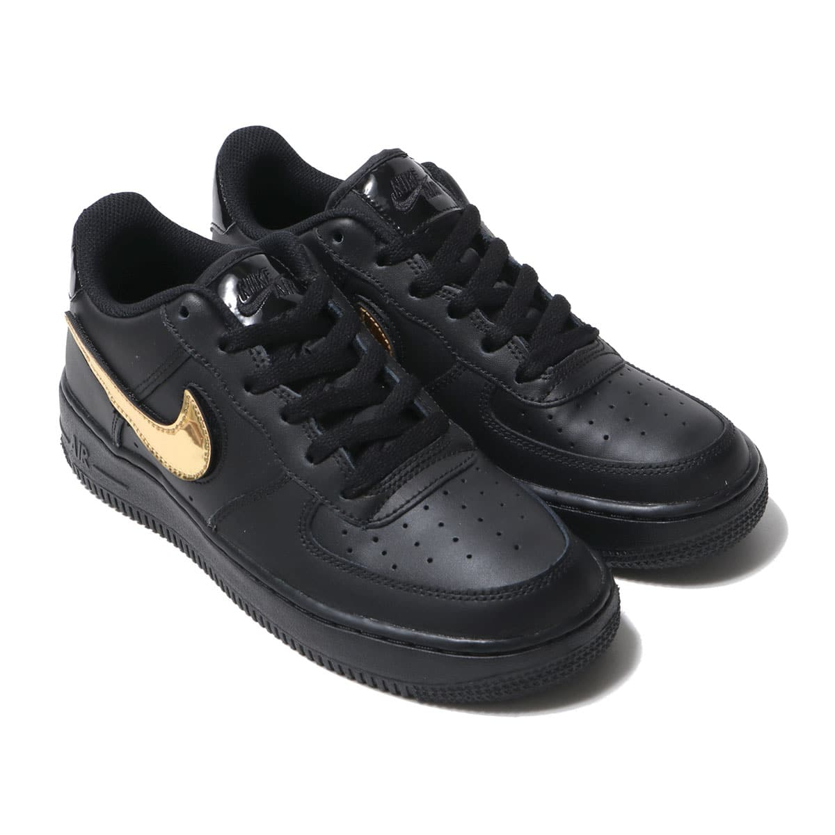 NIKE AIR FORCE 1 LV8 3 GS BLACK/BLACK-BLACK-WHITE 19FA-I_photo_large