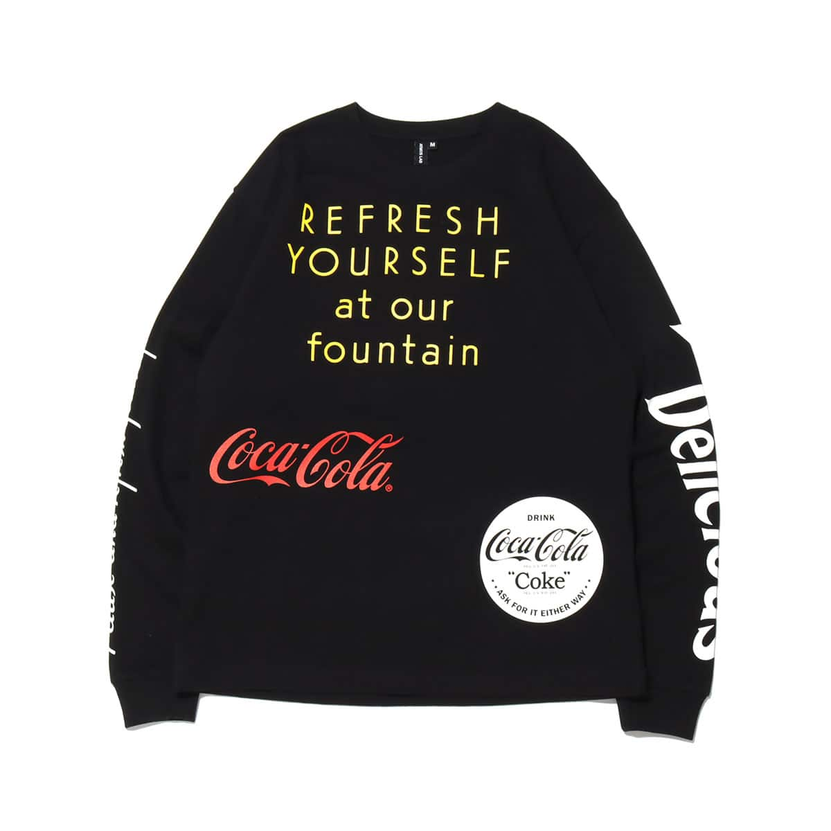 COCA-COLA BY ATMOS LAB DRINK DELICIOUS LS TEE BLACK 20FA-S_photo_large