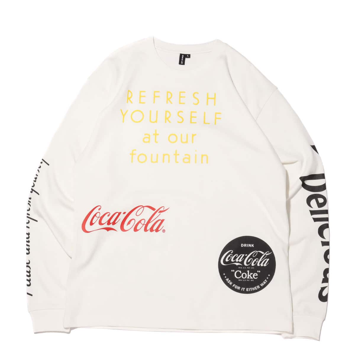 COCA-COLA BY ATMOS LAB DRINK DELICIOUS LS TEE WHITE 20FA-S_photo_large