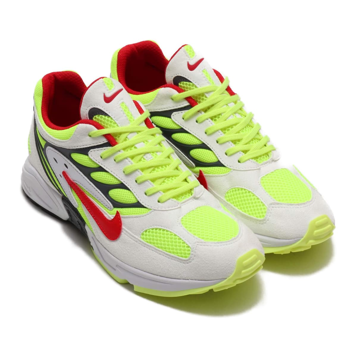 NIKE AIR GHOST RACER WHITE/ATOM RED-NEON YELLOW-DARK GREY 19FA-S_photo_large