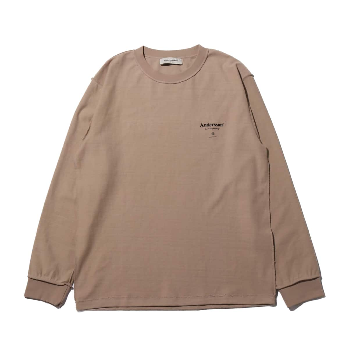 Andersson Bell UNISEX ANDERSSON SIGNATURE LOGO L/S T-SHIRT SAND BEIGE 19FA-I_photo_large