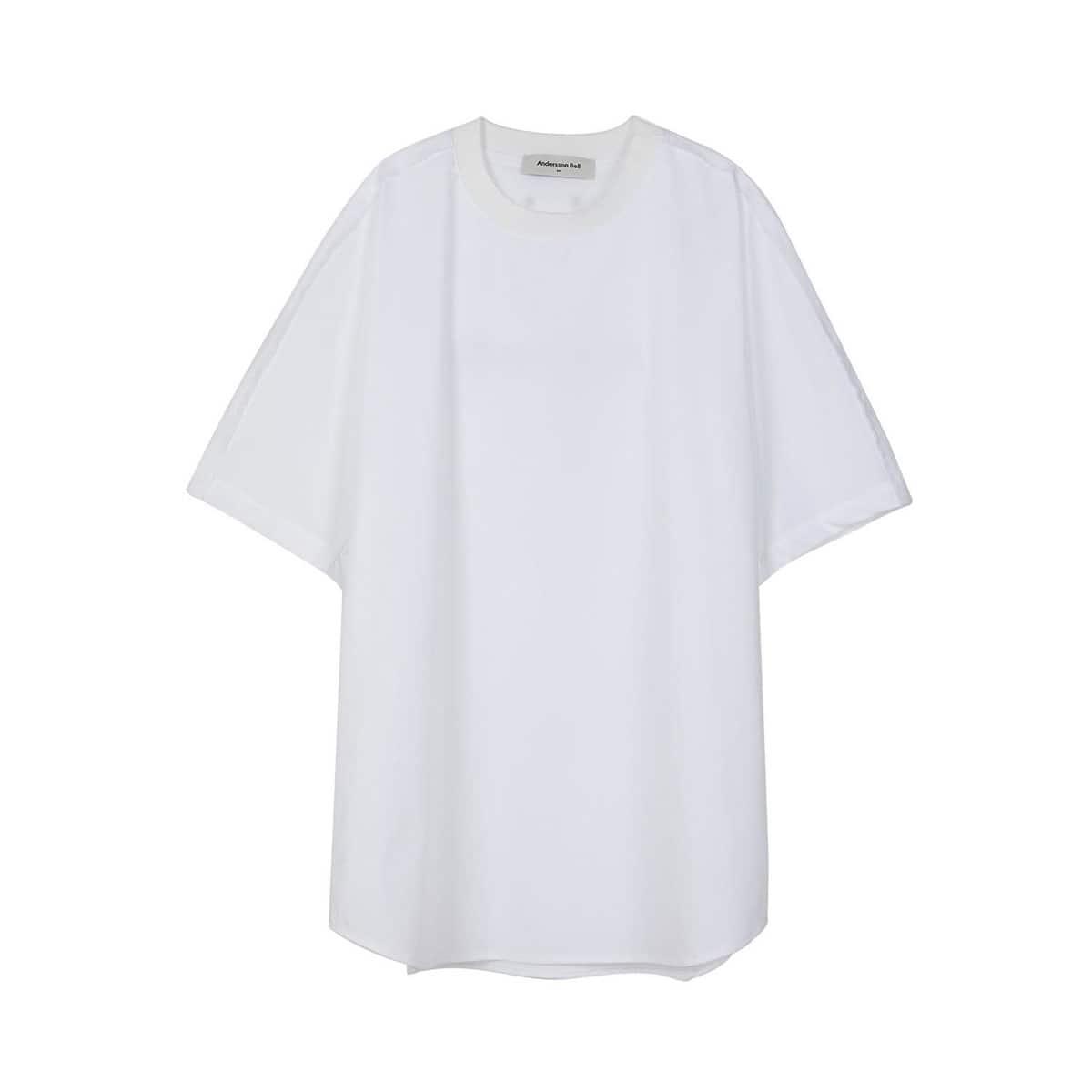 Andersson Bell POPLIN OVERSIZED LOGO PRINT T-SHIRTS WHITE 20SU-I_photo_large