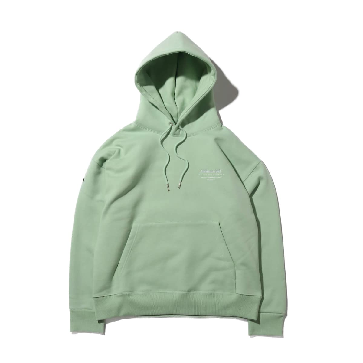 Andersson Bell UNISEX FULL NAME LOGO EMBROIDERY HOODIE PALE JADE 19FA-I_photo_large