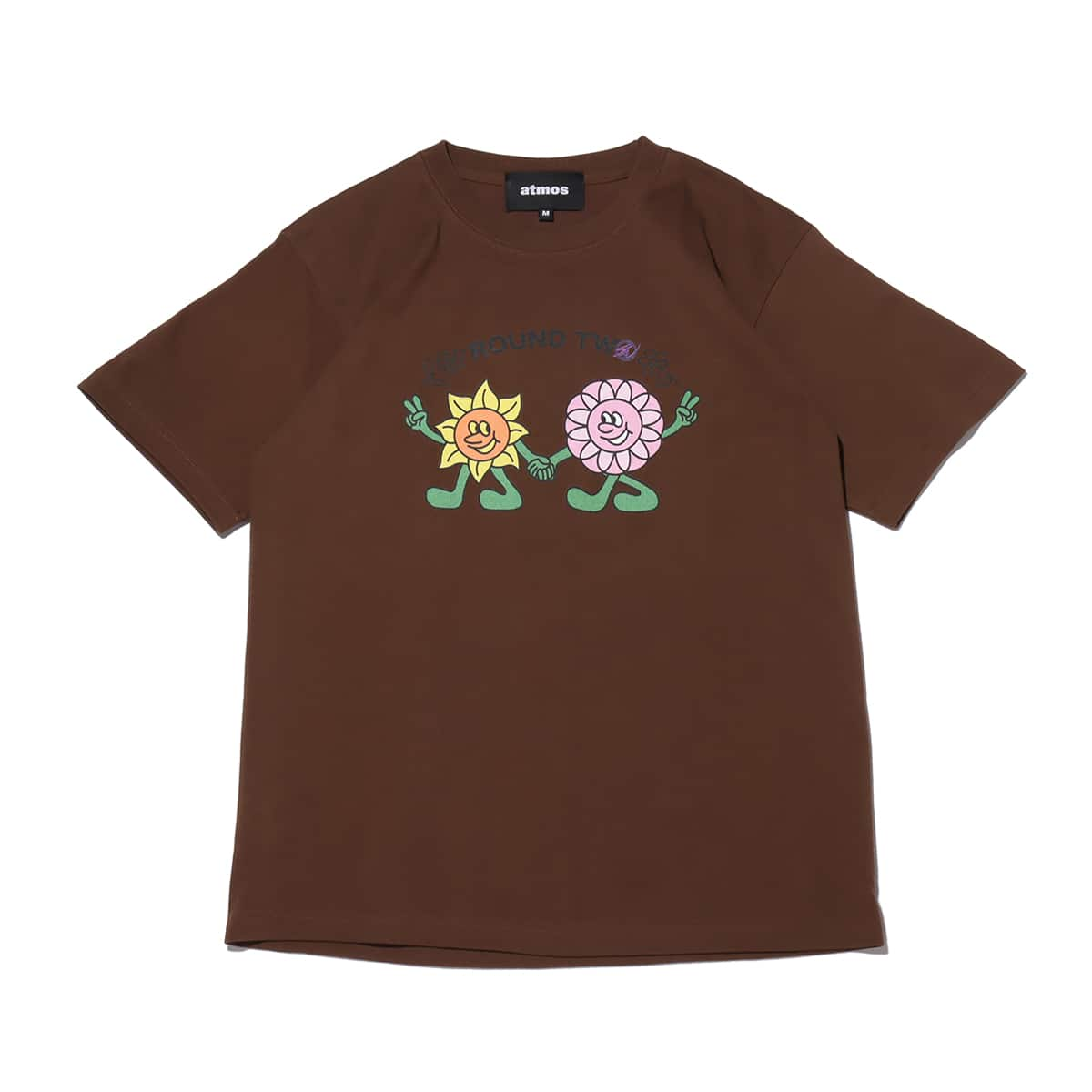 atmos x ROUND TWO WALKING FLOWERS brown 21SP-S_photo_large