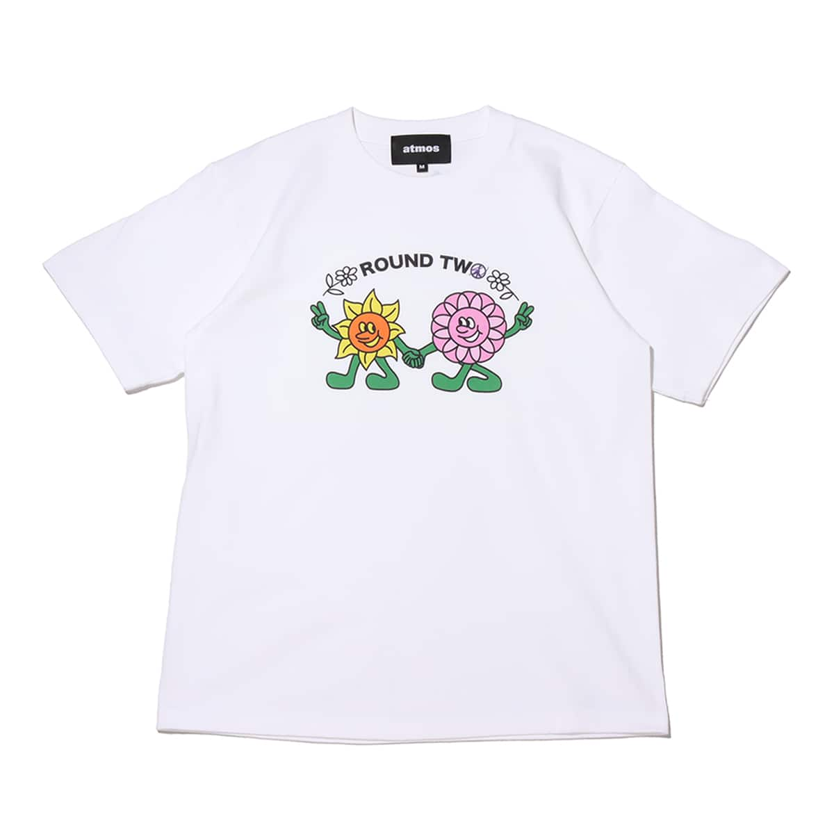 atmos x ROUND TWO WALKING FLOWERS white 21SP-S_photo_large