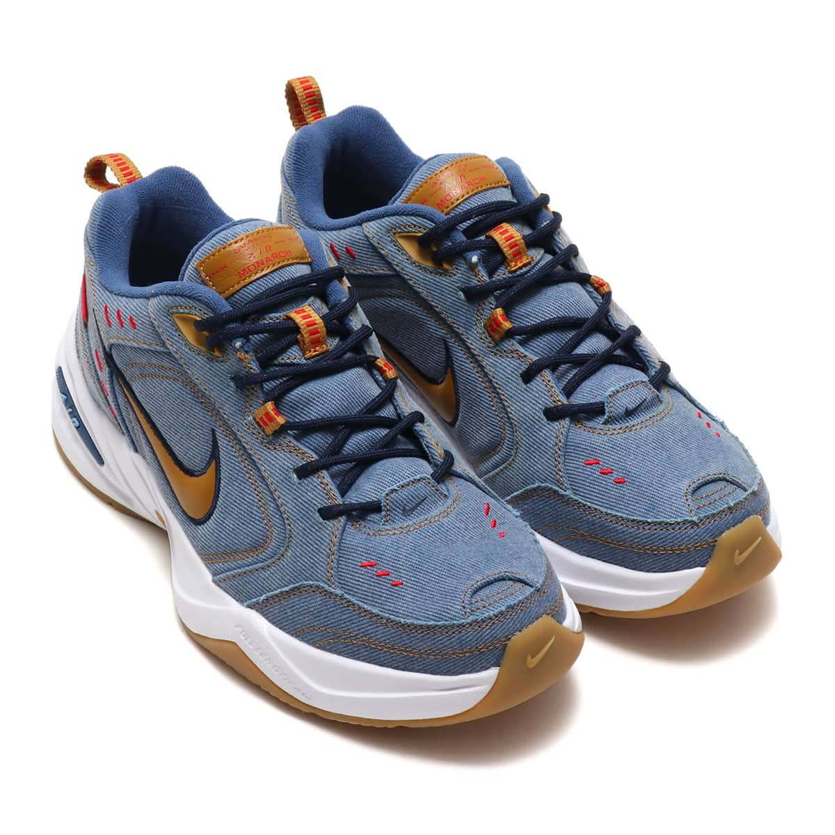 NIKE AIR MONARCH IV PRM COLLEGE NAVY/WHEAT-DECEMBER SKY 19SU-S_photo_large