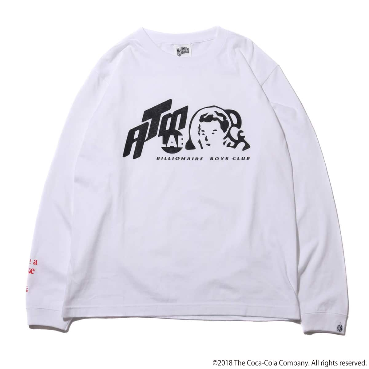 Coca-Cola by Billionaire Boys Club x ATMOS LAB BP CAN LS TEE  WHITE_photo_large