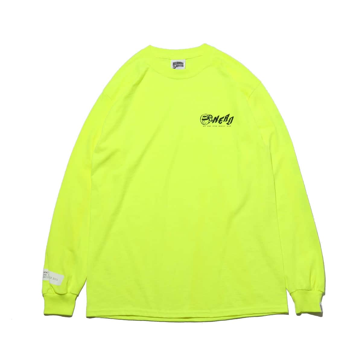 BILLIONAIRE BOYS CLUB x N.E.R.D LONG T-SHIRTS_N.E.R.D  SAFETY GREEN_photo_large