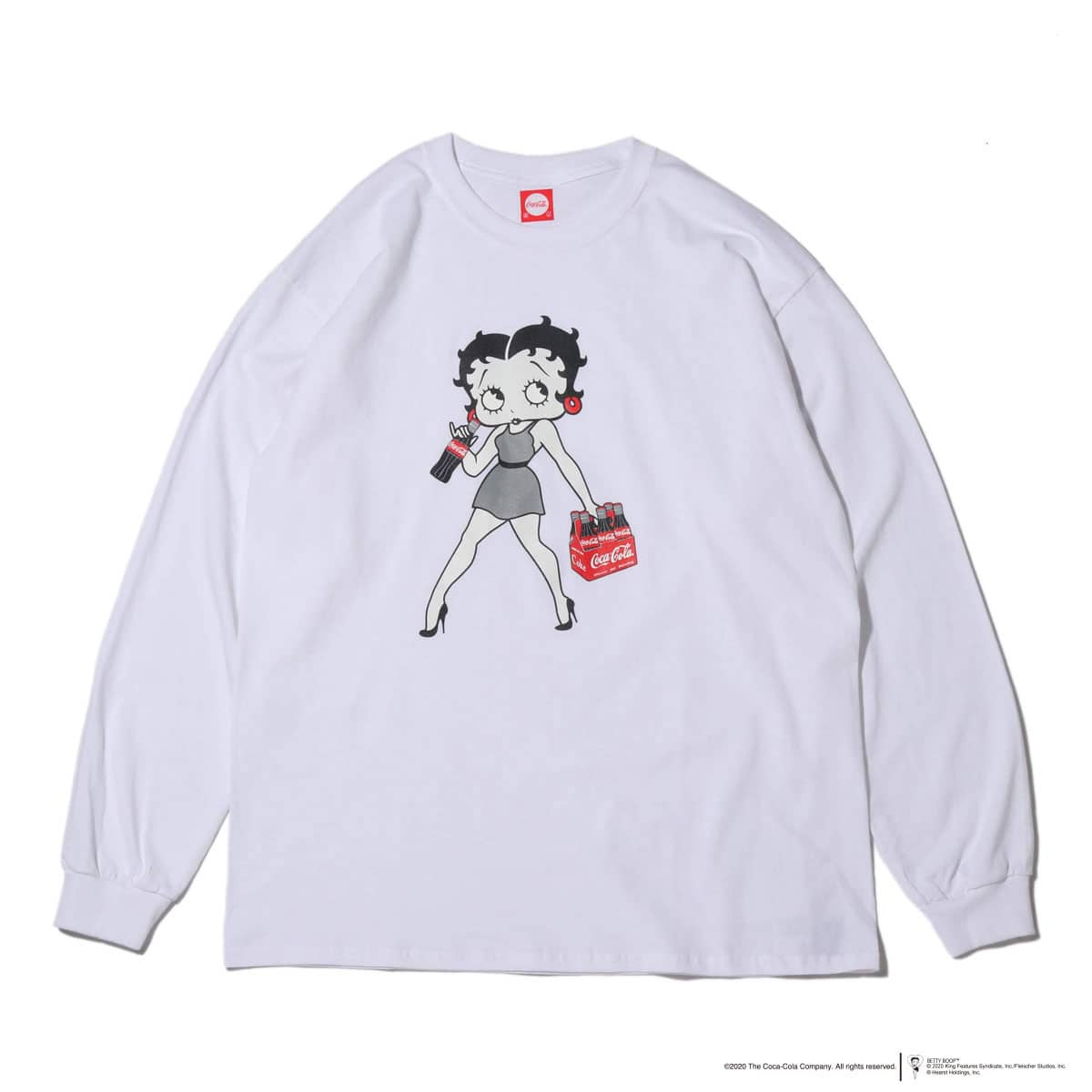 COCA-COLA x BETTY BOOP™ L/S T-SHIRT WHITE 20SP-S_photo_large