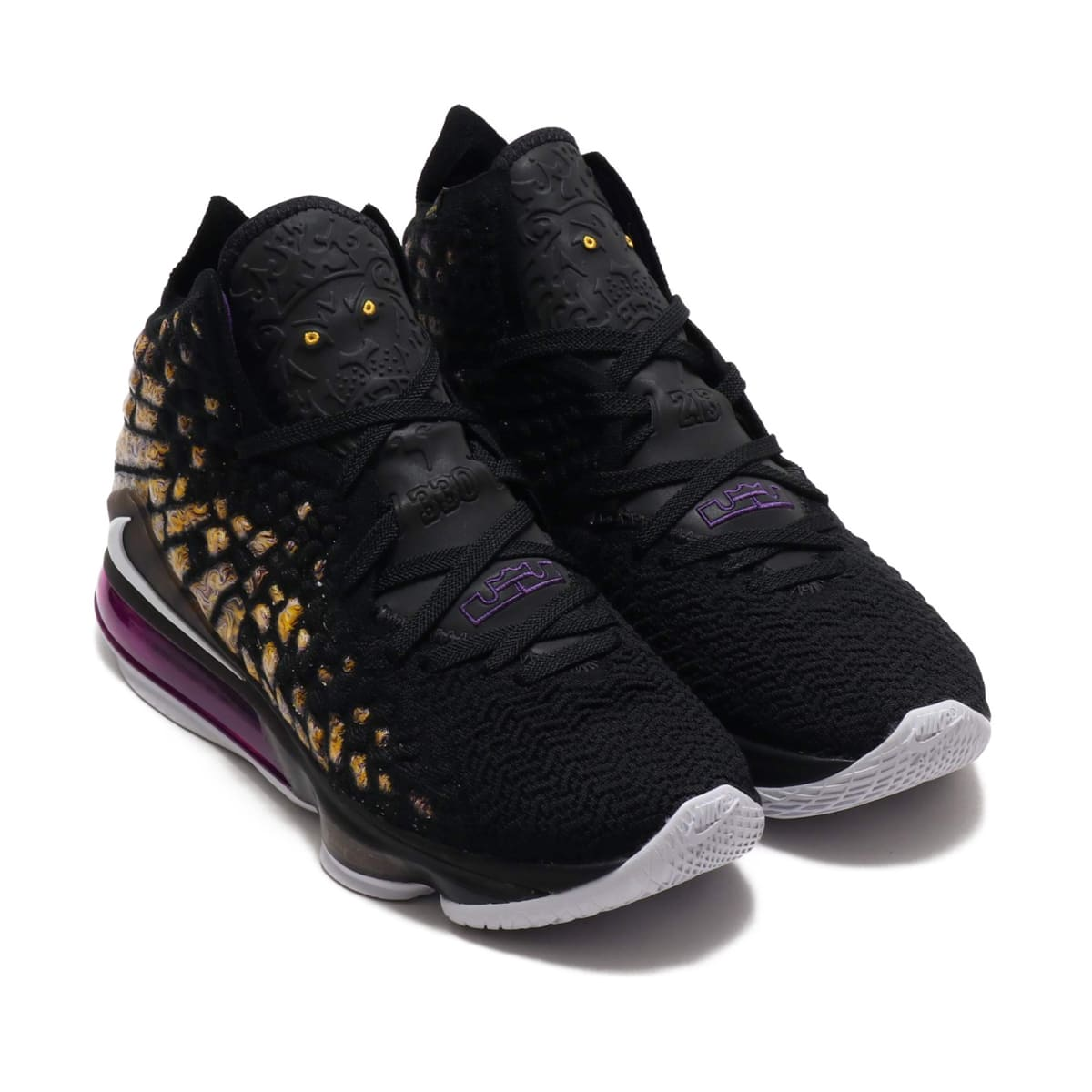 NIKE LEBRON XVII BLACK/WHITE-EGGPLANT-AMARILLO 19HO-S_photo_large