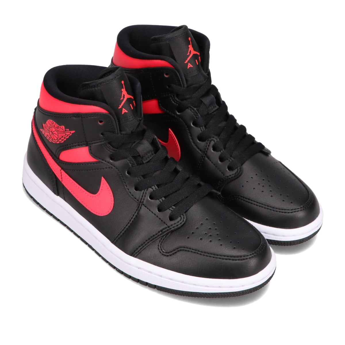 JORDAN BRAND WMNS AIR JORDAN 1 MID BLACK/SIREN RED-WHITE 21SP-S_photo_large