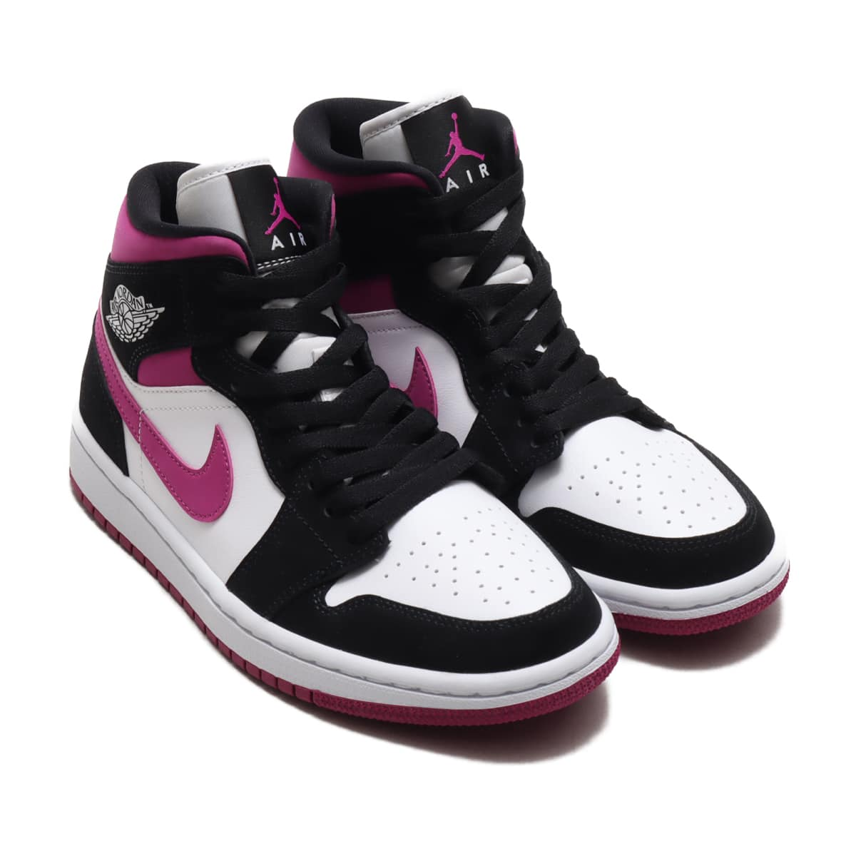JORDAN BRAND WMNS AIR JORDAN 1 MID BLACK/CACTUS FLOWER-WHITE 20FA-I_photo_large