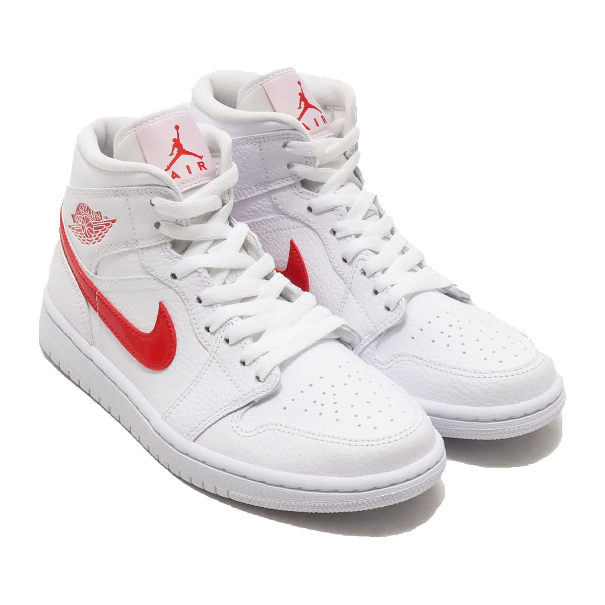 JORDAN BRAND WMNS AIR JORDAN 1 MID WHITE/UNIVERSITY RED 20FA-I_photo_large
