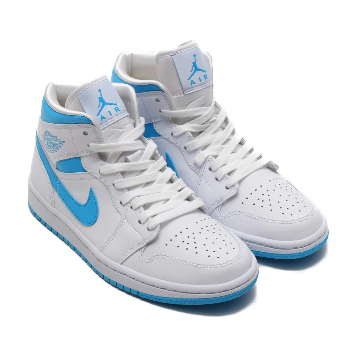 NIKE WMNS AIR JORDAN 1 MID WHITE/DK POWDER BLUE-WHITE 20SP-S_photo_large
