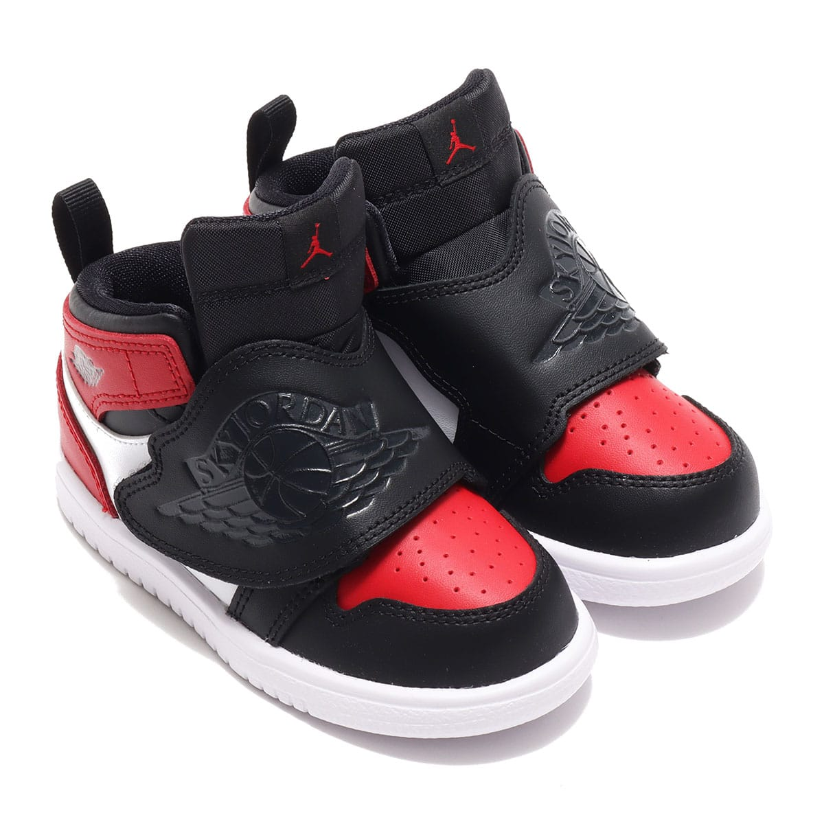 JORDAN BRAND SKY JORDAN 1 (TD) BLACK/ANTHRACITE-VARSITY RED-WHITE 20FA-I_photo_large