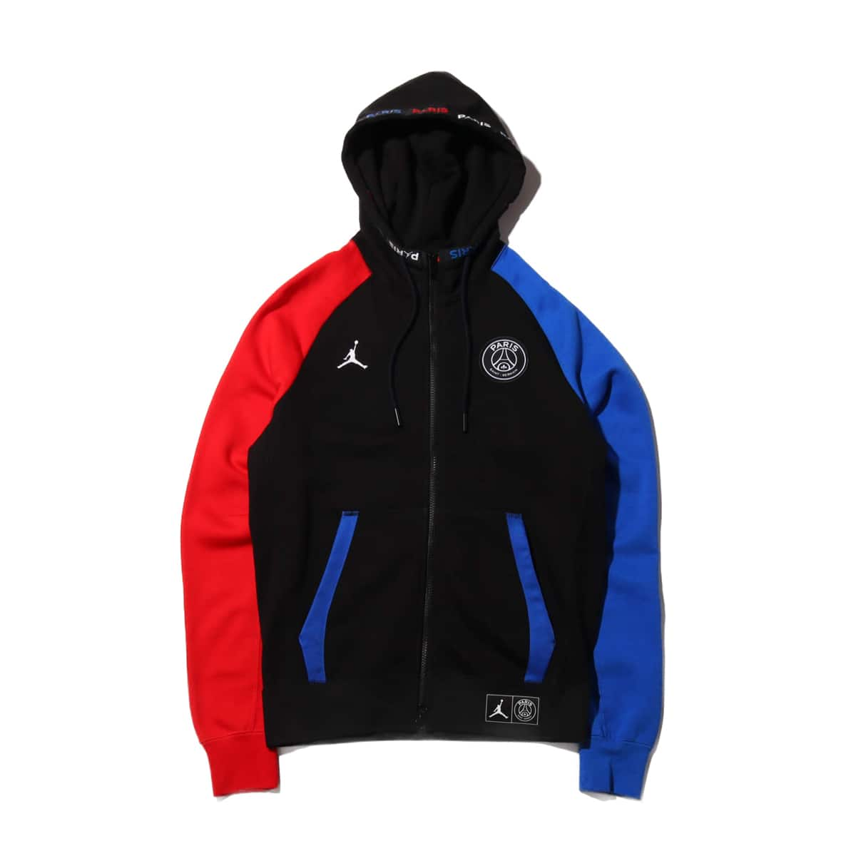 JORDAN BRAND AS M J PSG BC FLEECE FZ BLACK/HYPER COBALT/UNIVERSITY RED 20SP-S_photo_large