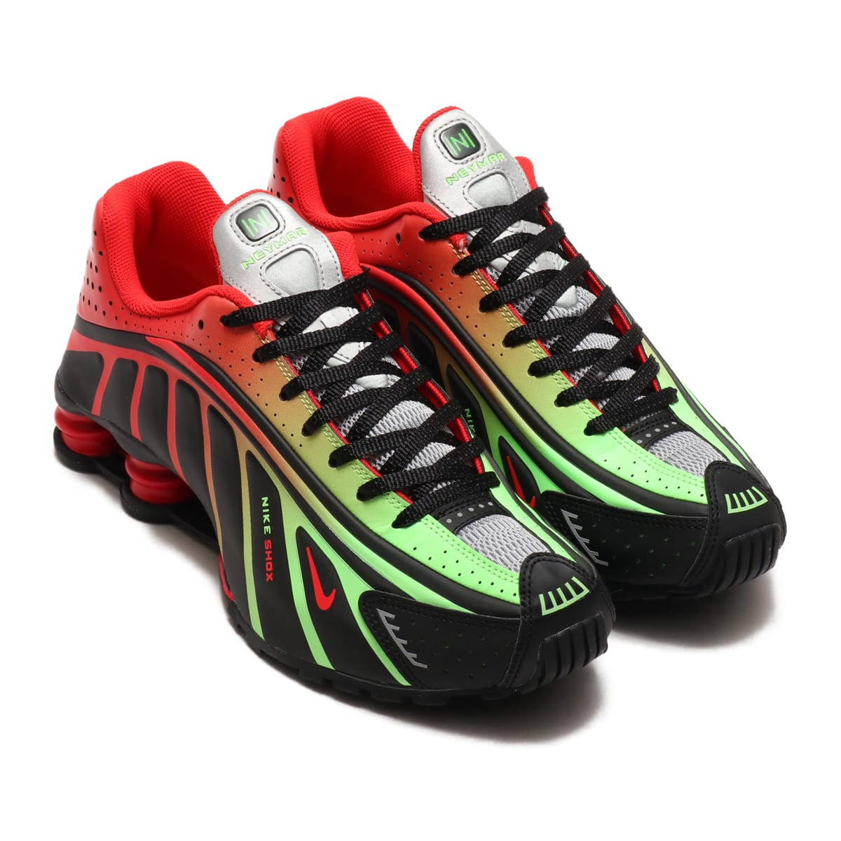 NIKE SHOX R4 / NEYMAR JR. BLACK/CHALLENGE RED-METALLIC SILVER 19SU-S_photo_large