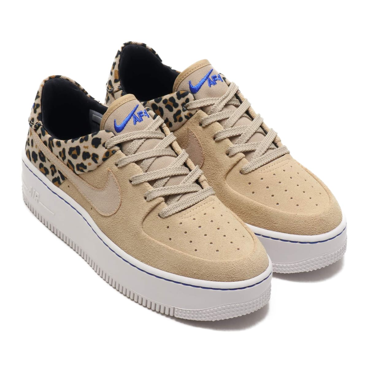 NIKE W AIR FORCE 1 SAGE LO PRM DESERT ORE/RACER BLUE-BLACK-WHEAT 19SP-I_photo_large