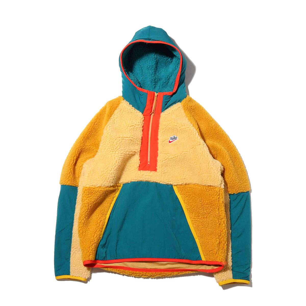 NIKE AS M NSW HE HOODIE HZ WINTER CLUB GOLD/GEODE TEAL/GOLD SUEDE 19HO-S_photo_large