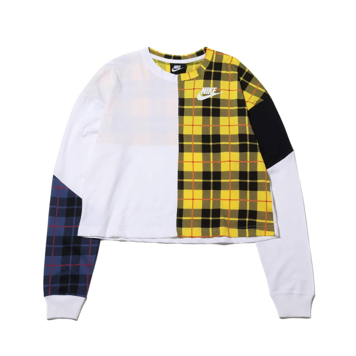 NIKE AS W NSW TOP LS PLAID WHITE/BLACK/WHITE 19FA-S_photo_large
