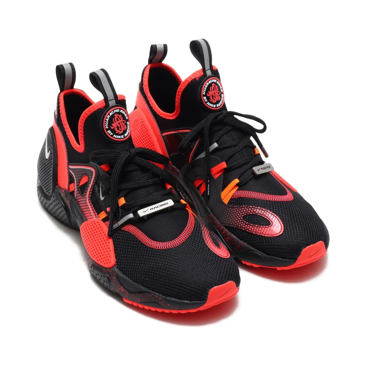 NIKE HUARACHE E.D.G.E. AS QS  BLACK/WHITE-BRIGHT CRIMSON-TOTAL ORANGE 19SP-I_photo_large