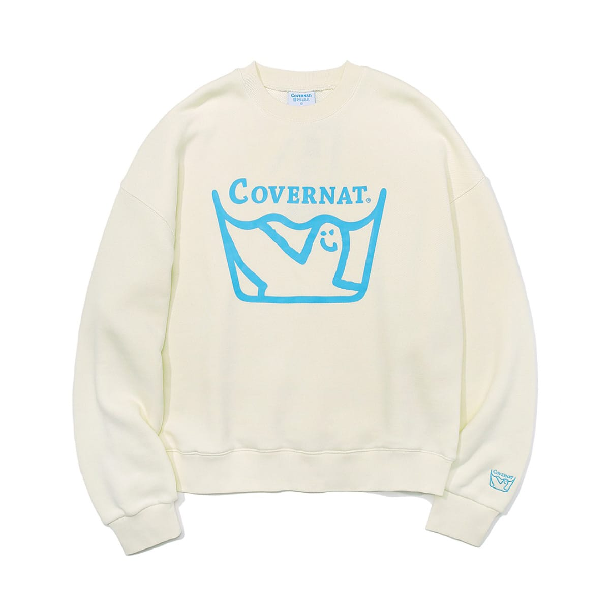 COVERNAT x MARKGONZALES LAUNDRY CREWNECK IVORY 20SP-I_photo_large