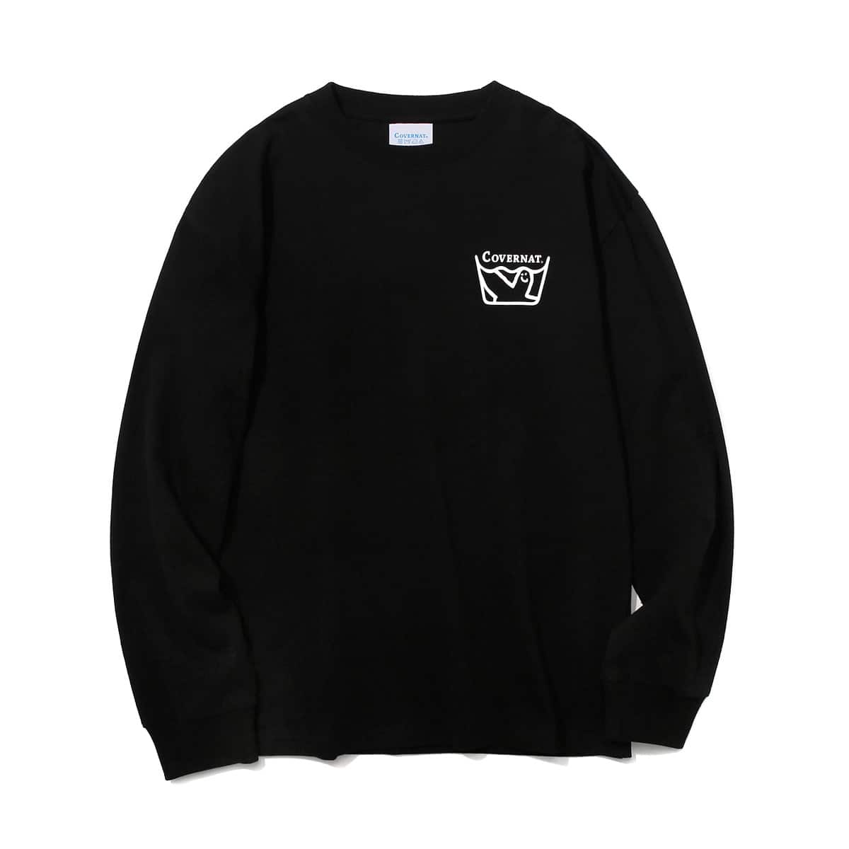 COVERNAT x MARKGONZALES LAUNDRY L/S TEE BLACK 20SP-I_photo_large