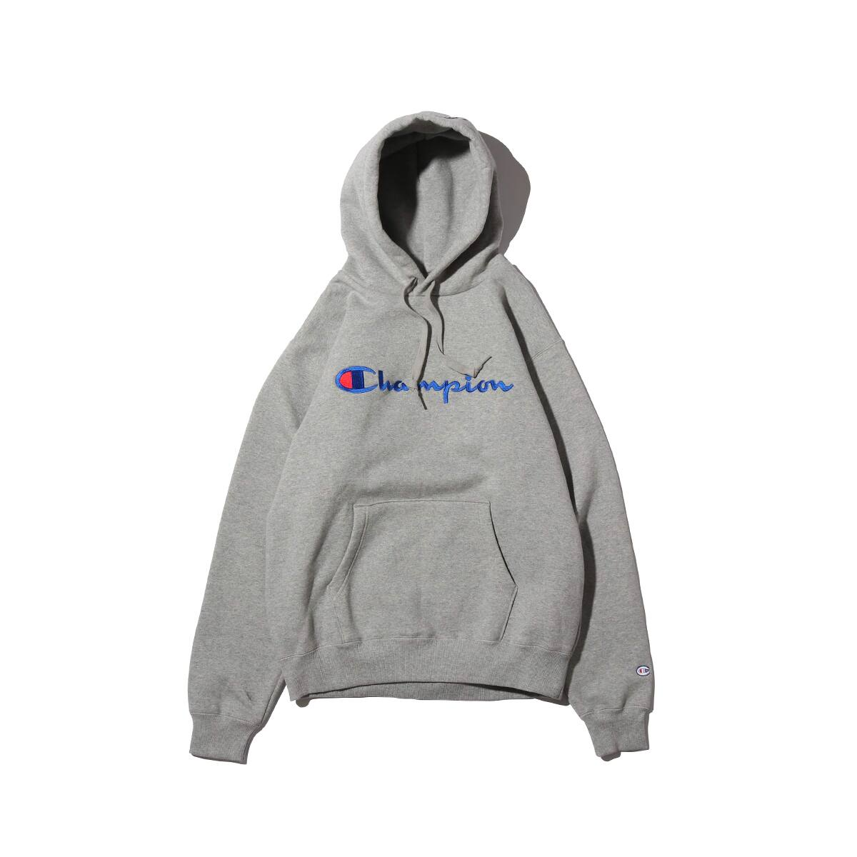 Champion × ATMOS LAB P/O HOODED SWEATSHIRT オックスフォードグレー 18FW-I_photo_large