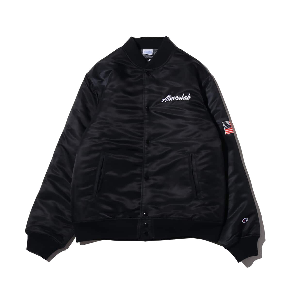 Champion × ATMOS LAB SATIN BASEBALL JACKET ブラック 18FW-I_photo_large