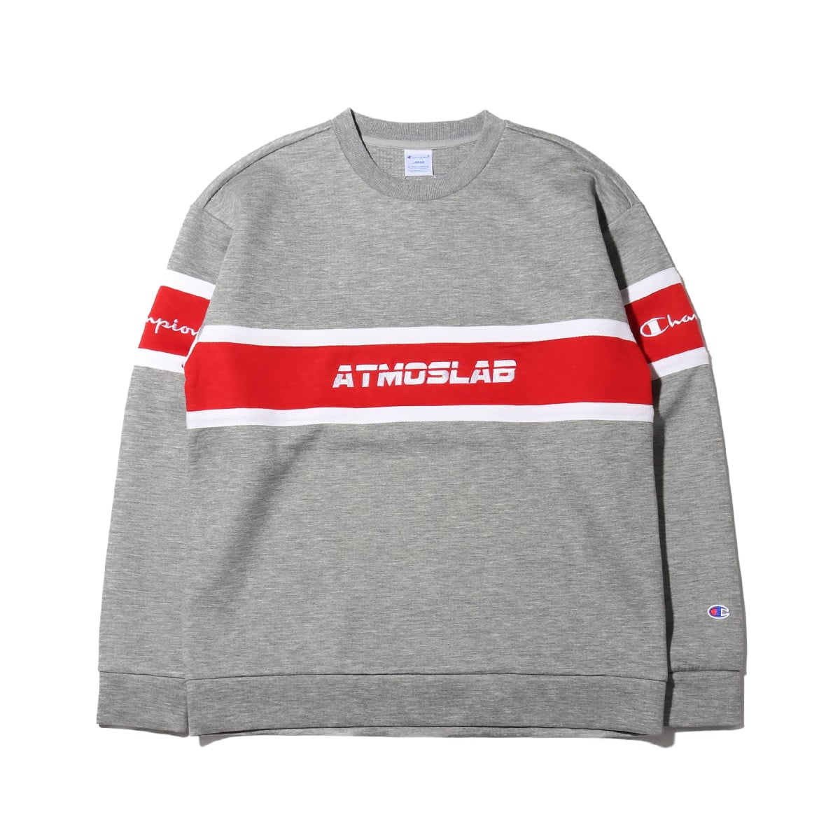Champion × ATMOS LAB WRAP AIR CREW NECK  オックスフォードグレー 19SP-S_photo_large