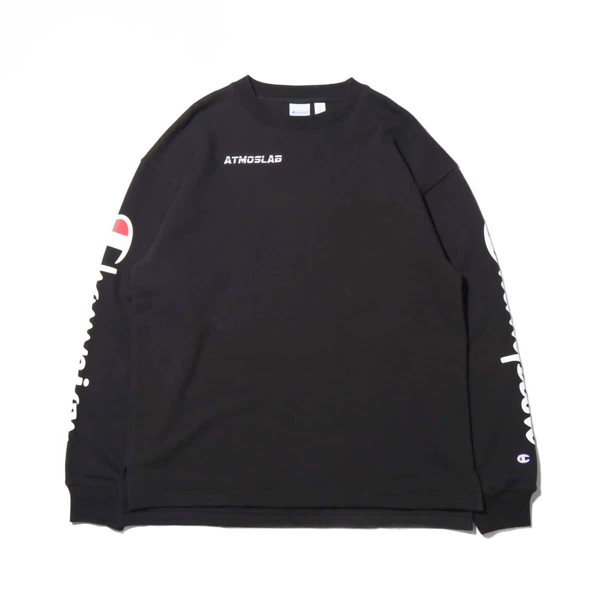 Champion × ATMOS LAB CREW NECK SWEATSHIRT  ブラック 19SP-S_photo_large