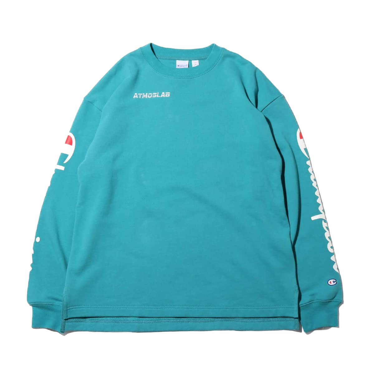Champion × ATMOS LAB CREW NECK SWEATSHIRT  アクア 19SP-S_photo_large