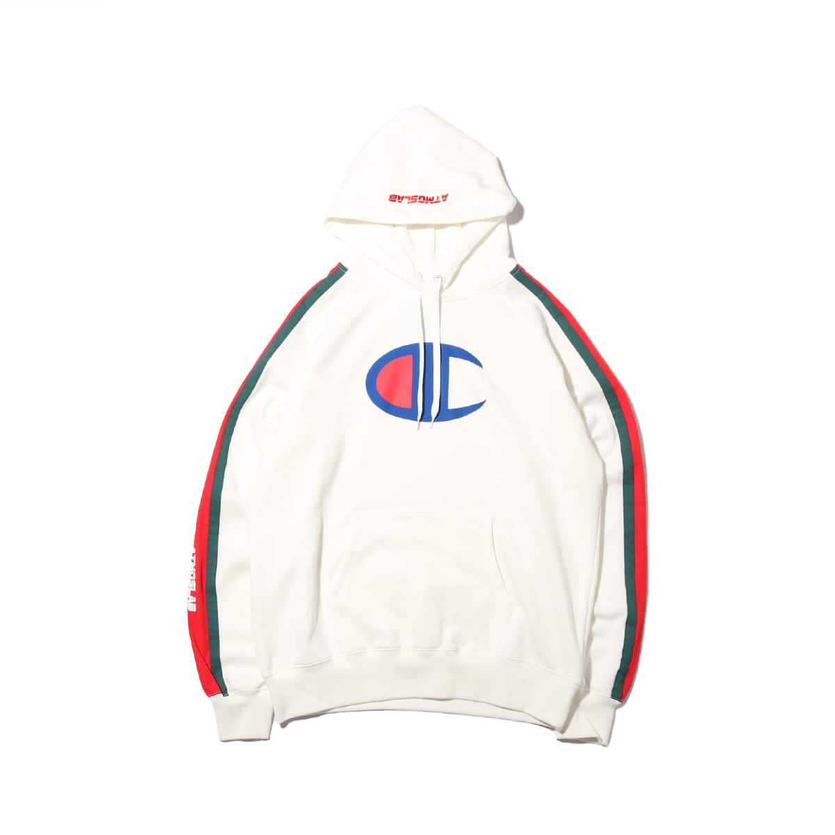Champion × ATMOS LAB P/O HOODED SWEATSHIRT  ホワイト 19SP-S_photo_large