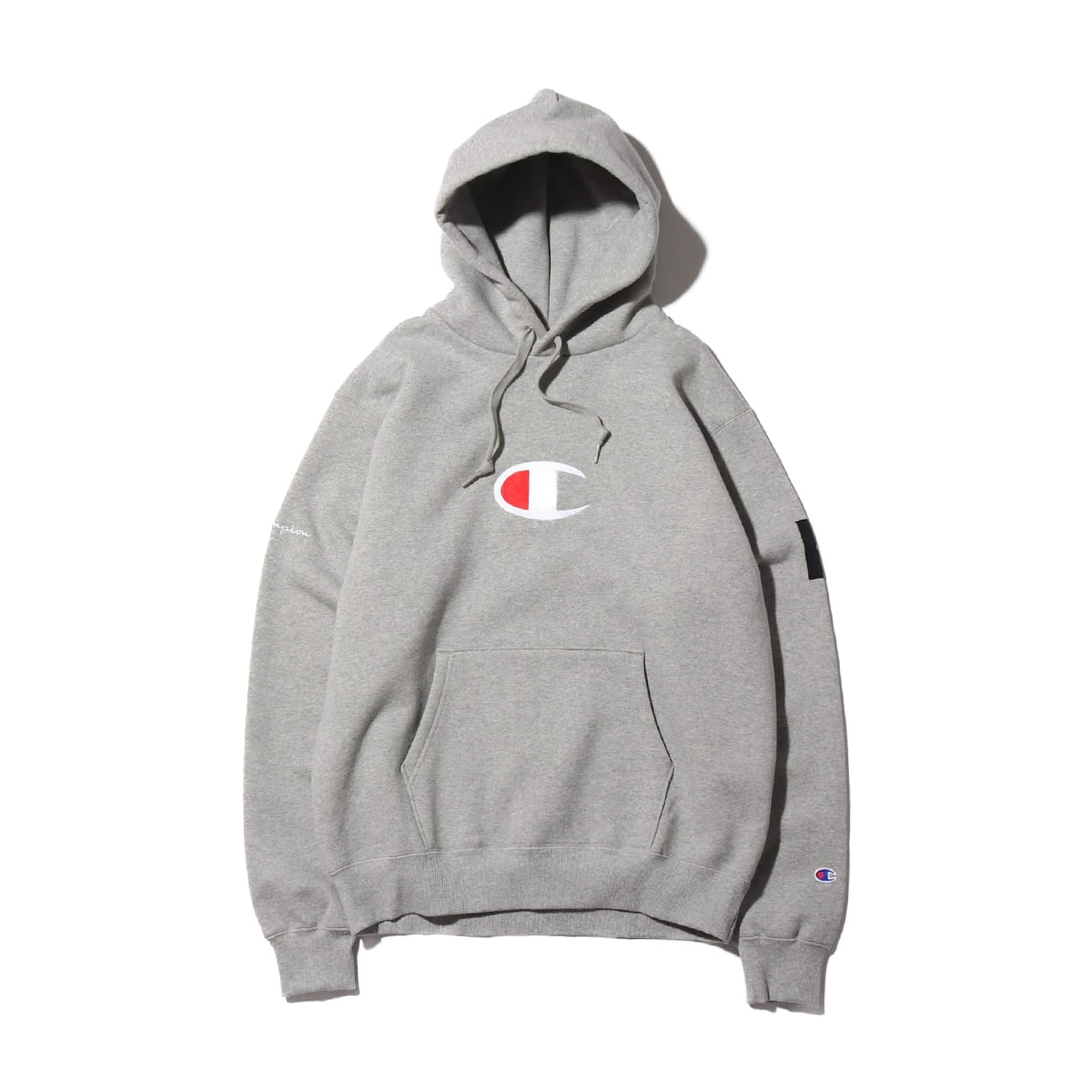 Champion x ATMOS LAB P/O HOODED SWEATSHIRT オックスフォードグレー 19FW-S_photo_large