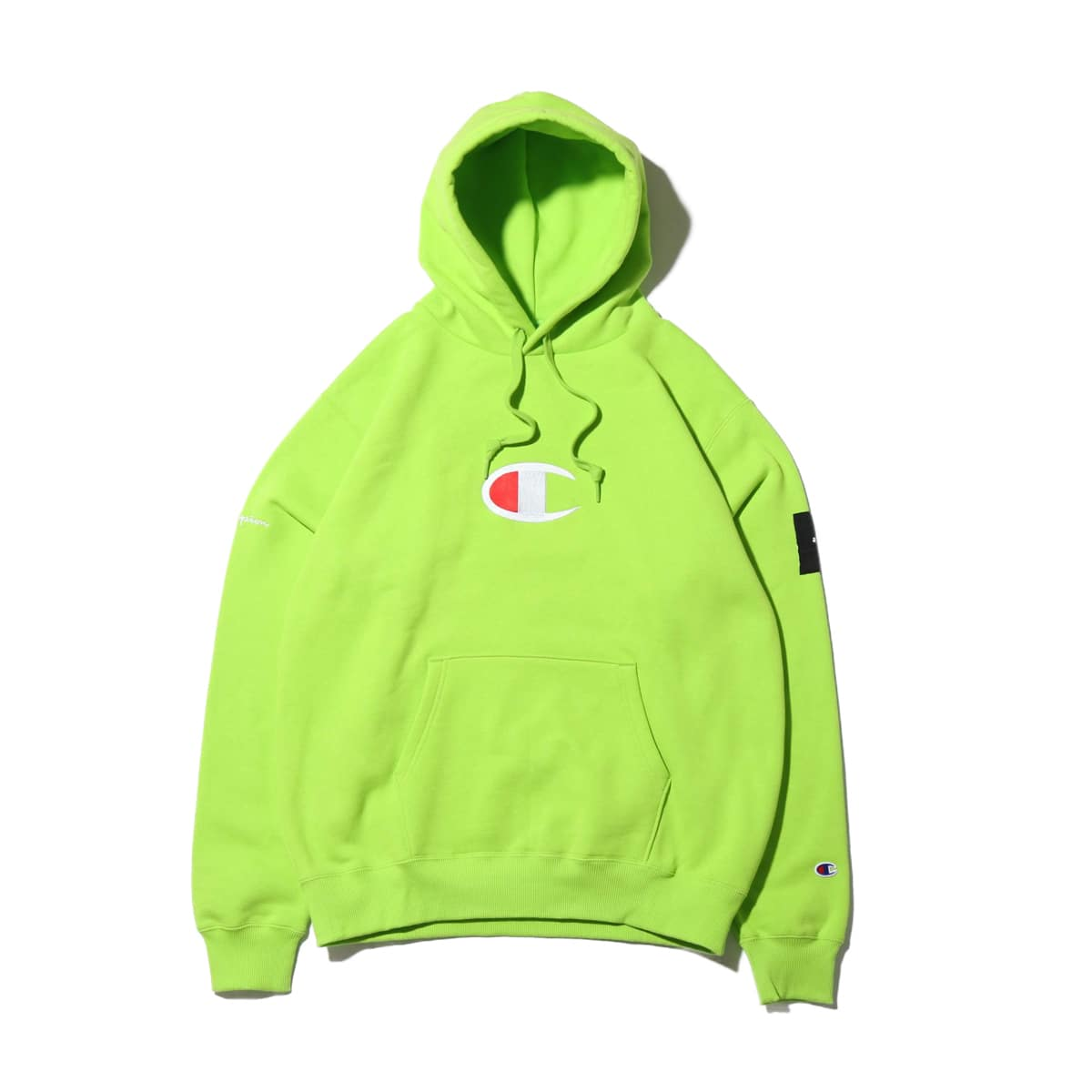Champion x ATMOS LAB P/O HOODED SWEATSHIRT ライム 19FW-S_photo_large
